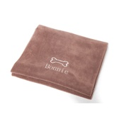 PetsPyjamas - Personalised Chocolate Bone Dog Blanket - Classic font