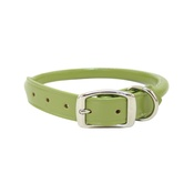 Auburn Leathercrafters - Rolled Leather Dog Collar – Green