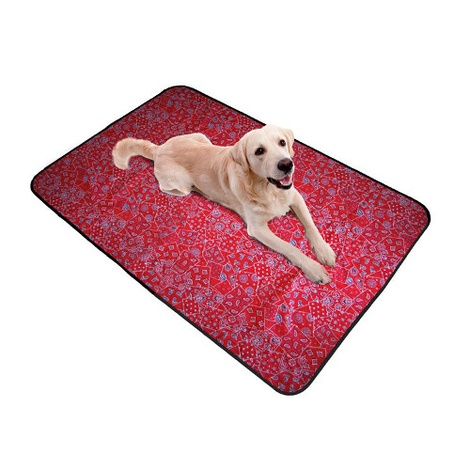 Pet Cooling Blanket in Red Western