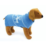 Doggy Things - Doggy Things Reindeer Knitted Jumper – Blue