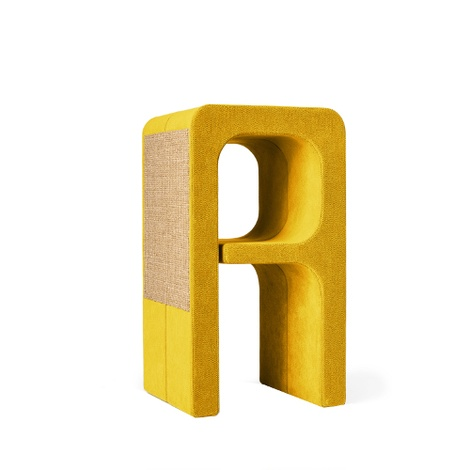 Scratching Post - Letter A - Yellow