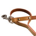 Chelsea Leather Dog Lead – Caramel & Tan 2