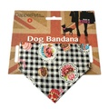 Black Pups Picnic Dog Bandana 2