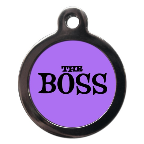 The Boss Dog ID Tag
