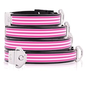 Cool Dog Club - Cool Dog K9 Striker MK2 Cabana Stripe Pink Dog Collar