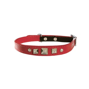 Rock Leather Cat Collar – Red
