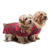 PetsPyjamas - Pawditch Red Tartan Dog Coat