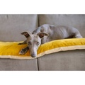 Plush Velvet Sofa Topper - Turmeric 2