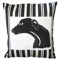 Greyhound Butcher Stripe Panel Cushion