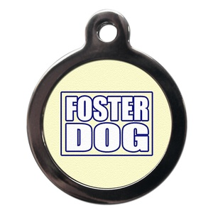 Foster Dog Pet ID Tag - Blue