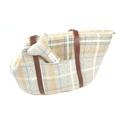 Teddy Maximus - Sand Shetland Wool Luxury Dog Carrier