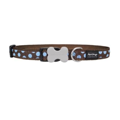 Blue Spots on Brown Dog Collar