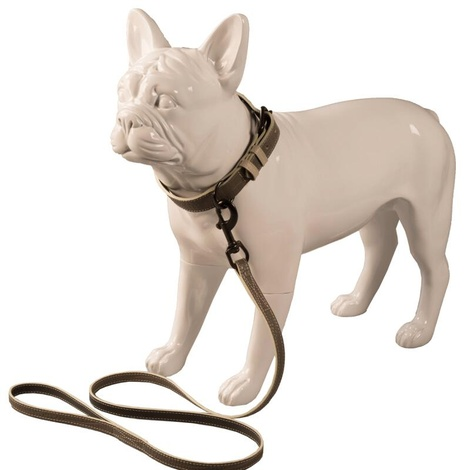 Paris Croc Dog Lead – Steeple Grey & Stone 3