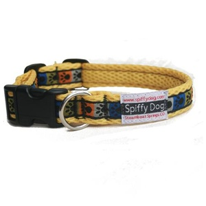 Yellow Paw Print Dog Collar