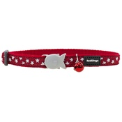 Red Dingo - Red Dingo Patterned Cat Collar - Red/White Stars