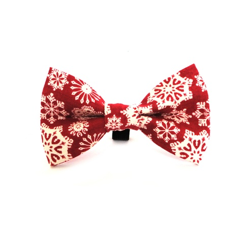 Christmas Snowflake Dog Dickie Bow