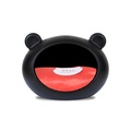 Small Black Dog Cave with Red Cushion 2
