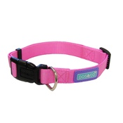 Hem & Boo - Adjustable Pink Nylon Dog Collar
