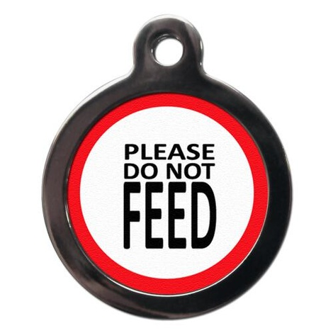 Please Do Not Feed Pet ID Tag