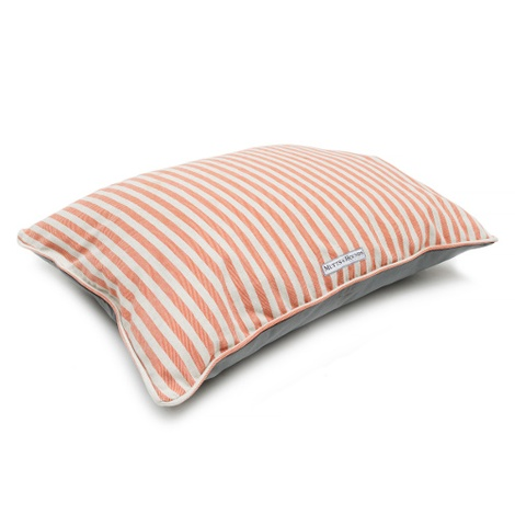 Orange Striped Pillow Dog Bed 3