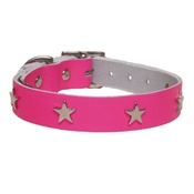 Creature Clothes - Galaxy Dog Collar - Pink, Nickel Stars