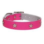 Creature Clothes - Galaxy Dog Collar - Pink, Nickel Stars