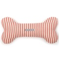 Red Ticking Stripe Bone Toy