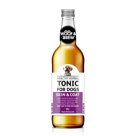 Woof & Brew Skin & Coat Herbal Tonic (330ml)