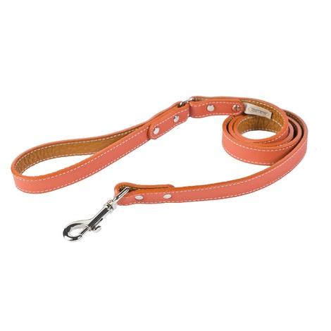 Tuscany Leather Dog Lead – Orange