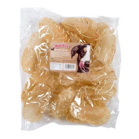 Howlers Natural Rawhide Chew Shoes