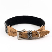 Ralph & Co - Tweed & Leather Dog Collar - Henley