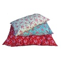 Red Vintage Floral Cushion Dog Bed 2