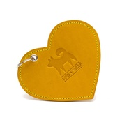 Hiro + Wolf - Leather Heart Poo Pouch – Acacia Yellow