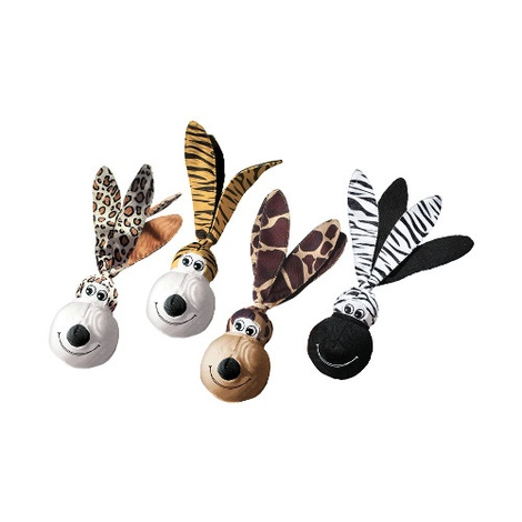 KONG Wubba Floppy Ears Dog Toy - Zebra 2