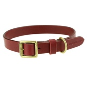 Clementine est. Dogs - Flat Beaton Collar - Burgundy