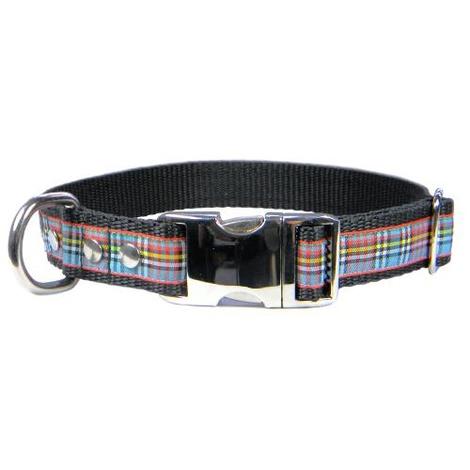 Scottish Anderson Tartan Dog Collar – Black