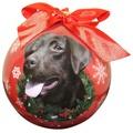 Chocolate Labrador Christmas Bauble