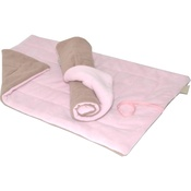In Vogue Pets - Cosy Mats - Pastel Pink & Camel