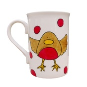 Laura Lee Designs - Classic Robin Print Christmas Mug