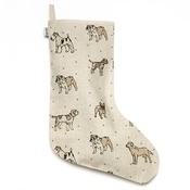 Mutts & Hounds - Natural Linen Dog Stocking
