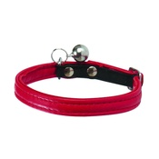 Bobby - Large Escapade Leather Cat Collar – Red