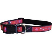 Hem & Boo - Red Paw & Bones Adjustable Dog Collar