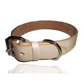 Zukie Style - Natural Leather Dog Collar
