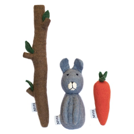Wool Carrot Dog Toy 4