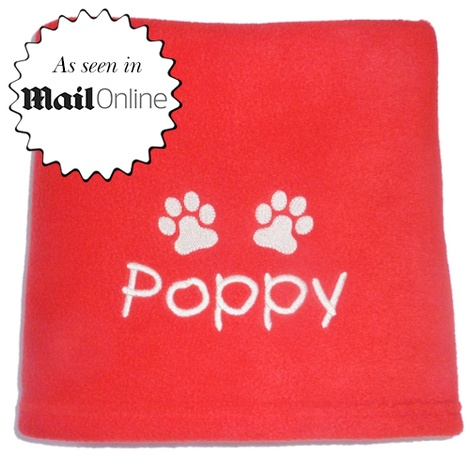 Personalised Santa Paws Pet Blanket