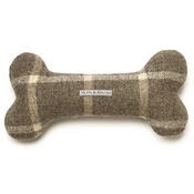 Mutts & Hounds - Slate Tweed Bone Squeaky Toy
