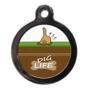 PS Pet Tags - Dig Life Pet ID Tag