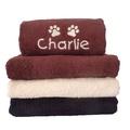 Personalised Pet Towel - Chocolate  2