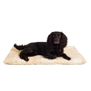 Owl Motif Dog Roll Bed - Taupe