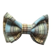 Dapper Pets - Blue Tartan Dog Bow Tie